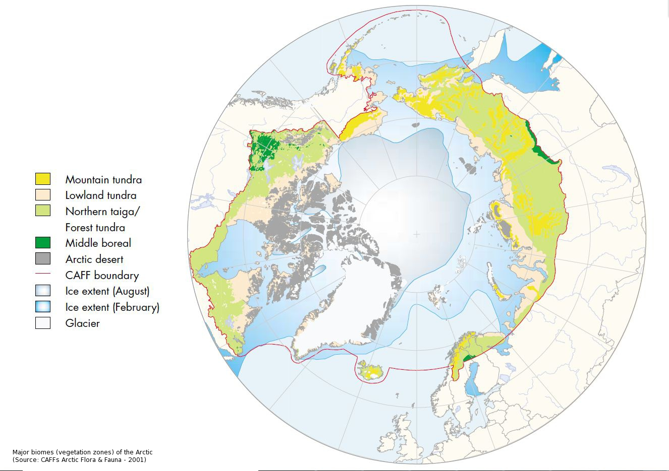 Caff map no33 major biomes vegetation zones of the arctic caff map no33 major biomes vegetation zones of the arctic gumiabroncs Gallery