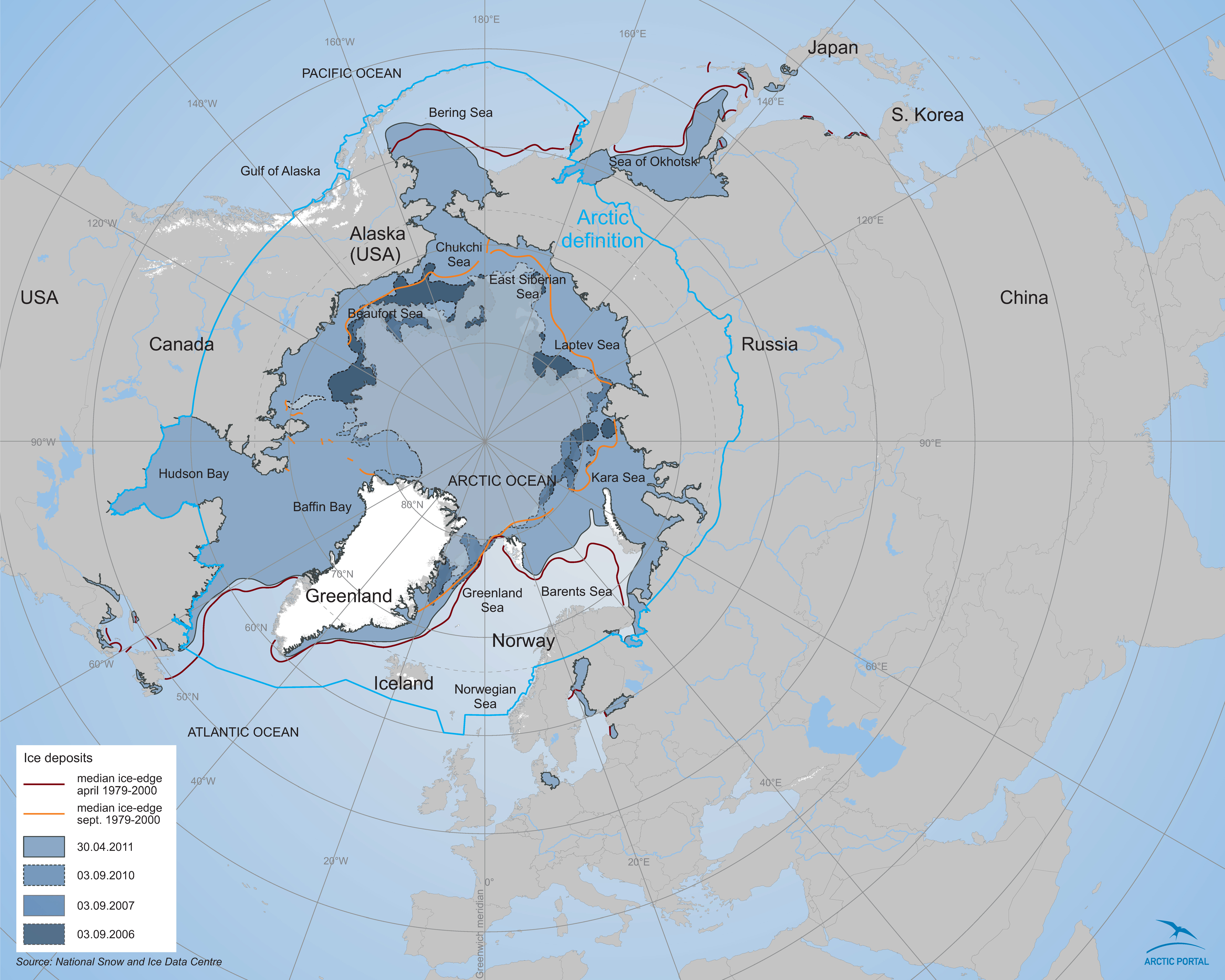 Arctic ice edge map arctic portal library download 4mb preview gumiabroncs Gallery